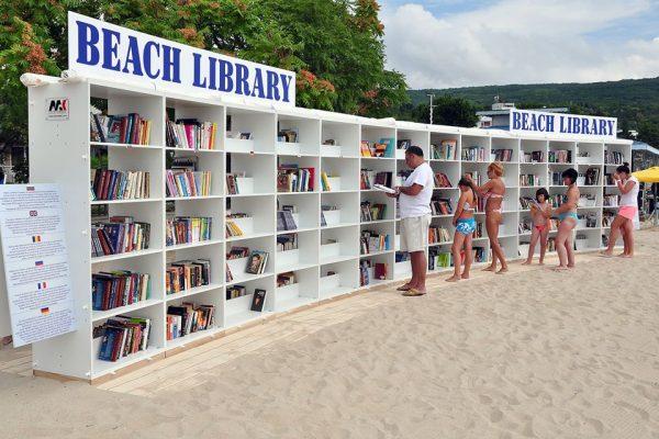 albena resort bibliothèque plage
